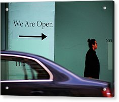 No We Are Closed  Acrylic Print by Empty Wall
