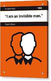 No010-my-invisible Man-book-icon-poster Acrylic Print