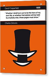 No020-my-david Copperfield-book-icon-poster Acrylic Print by Chungkong Art