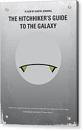 No035 My Hitchhiker Guide Minimal Movie Poster Acrylic Print