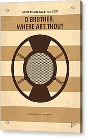No055 My O Brother Where Art Thou Minimal Movie Poster Acrylic Print
