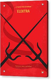 No060 My Electra Minimal Movie Poster Acrylic Print by Chungkong Art