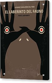 No061 My Pans Labyrinth Minimal Movie Poster Acrylic Print