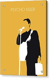 No064 My Talking Heads Minimal Music Poster Acrylic Print by Chungkong Art