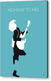 No065 My Acdc Minimal Music Poster Acrylic Print