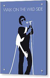 No068 My Lou Reed Minimal Music Poster Acrylic Print by Chungkong Art
