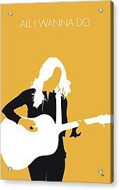 No074 My Sheryl Crow Minimal Music Poster Acrylic Print
