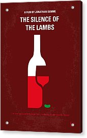 No078 My Silence Of The Lamb Minimal Movie Poster Acrylic Print by Chungkong Art