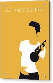No084 My Chet Baker Minimal Music Poster Acrylic Print