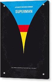 No086 My Superman Minimal Movie Poster Acrylic Print by Chungkong Art