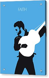 No089 My George Michael Minimal Music Poster Acrylic Print