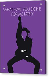 No091 My Janet Jackson Minimal Music Poster Acrylic Print