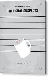 No095 My The Usual Suspects Minimal Movie Poster Acrylic Print by Chungkong Art