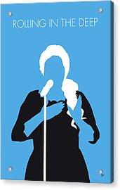 No099 My Adele Minimal Music Poster Acrylic Print