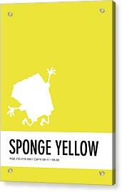No10 My Minimal Color Code Poster Spongebob Acrylic Print by Chungkong Art