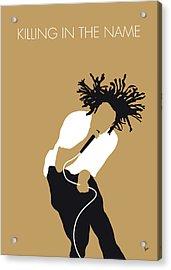 No100 My Rage Against The Machine Minimal Music Poster Acrylic Print