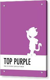 No11 My Minimal Color Code Poster Top Cat Acrylic Print by Chungkong Art