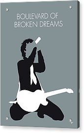No117 My Green Day Minimal Music Poster Acrylic Print