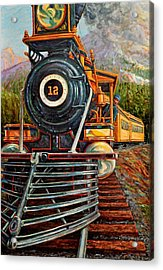 No.12 In The Mountains Acrylic Print by Gary Symington