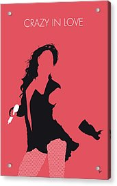 No122 My Beyonce Minimal Music Poster Acrylic Print