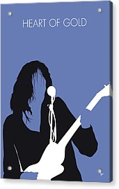No128 My Neil Young Minimal Music Poster Acrylic Print