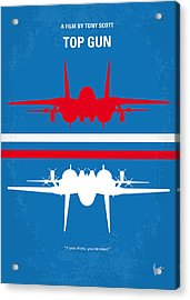 No128 My Top Gun Minimal Movie Poster Acrylic Print by Chungkong Art