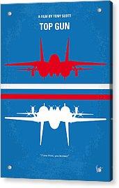 No128 My Top Gun Minimal Movie Poster Acrylic Print