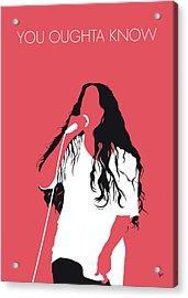 No152 My Alanis Morissette Minimal Music Poster Acrylic Print