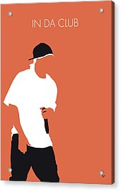 No153 My 50 Cent Minimal Music Poster Acrylic Print