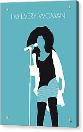 No155 My Chaka Khan Minimal Music Poster Acrylic Print
