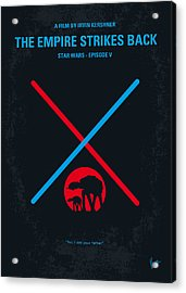 No155 My Star Wars Episode V The Empire Strikes Back Minimal Movie Poster Acrylic Print by Chungkong Art