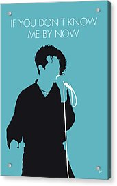 No165 My Simply Red Minimal Music Poster Acrylic Print