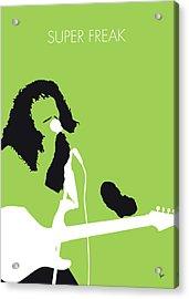 No166 My Rick James Minimal Music Poster Acrylic Print