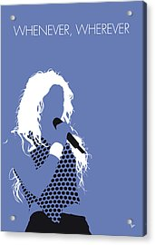 No168 My Shakira Minimal Music Poster Acrylic Print
