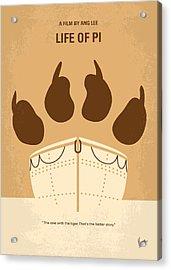 No173 My Life Of Pi Minimal Movie Poster Acrylic Print