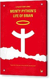 No182 My Monty Python Life Of Brian Minimal Movie Poster Acrylic Print