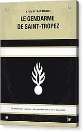 No186 My Le Gendarme De Saint-tropez Minimal Movie Poster Acrylic Print by Chungkong Art