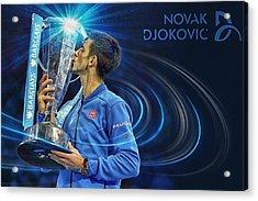 No1e  -  Novak Djokovic Acrylic Print by Nenad Cerovic