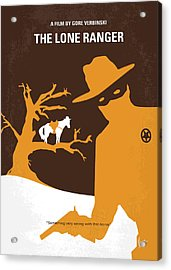 No202 My The Lone Ranger Minimal Movie Poster Acrylic Print