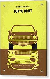 No207-3 My Tokyo Drift Minimal Movie Poster Acrylic Print