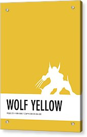 No21 My Minimal Color Code Poster Wolverine Acrylic Print by Chungkong Art