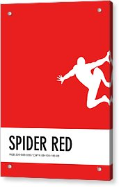 No24 My Minimal Color Code Poster Spiderman Acrylic Print