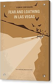 No293 My Fear And Loathing Las Vegas Minimal Movie Poster Acrylic Print by Chungkong Art