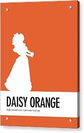 No35 My Minimal Color Code Poster Princess Daisy Acrylic Print
