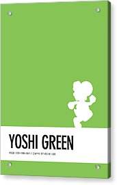 No36 My Minimal Color Code Poster Yoshi Acrylic Print