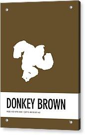 No37 My Minimal Color Code Poster Donkey Kong Acrylic Print