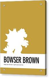 No38 My Minimal Color Code Poster Bowser Acrylic Print by Chungkong Art