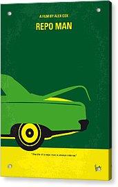 No478 My Repo Man Minimal Movie Poster Acrylic Print by Chungkong Art