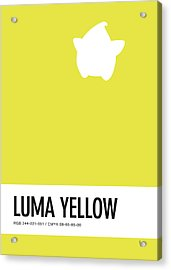 No40 My Minimal Color Code Poster Luma Acrylic Print