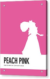 No44 My Minimal Color Code Poster Peach Acrylic Print